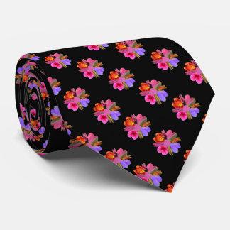 Corazones y flores corbata personalizada