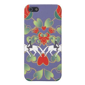 Corazones y flores del Dressage iPhone 5 Carcasa