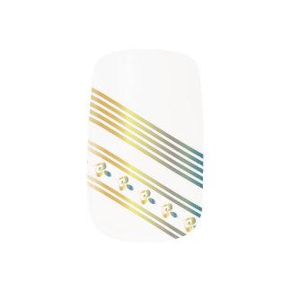corazones y líneas 2 del Multi-metal - clavos de Pegatinas Para Manicura