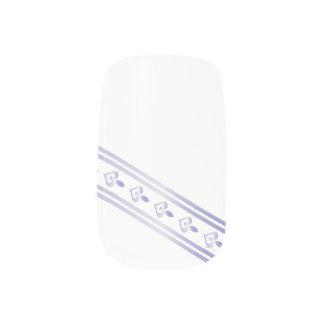 Corazones y líneas - clavos de la lavanda de la stickers para manicura
