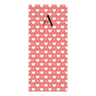 Corazones y lunares rosados coralinos del tarjetas publicitarias personalizadas