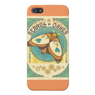 Corazones y melocotón del caso del iPhone del iPhone 5 Carcasas