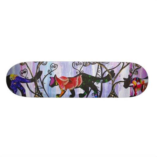 Corazones y monopatín de los gatos skate board