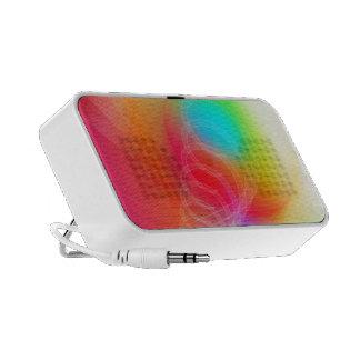 Corazones y puntos en fondo en colores pastel laptop altavoz