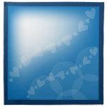 Corazones y rayas azules servilleta de papel