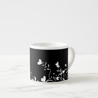 Corazones y remolinos taza espresso
