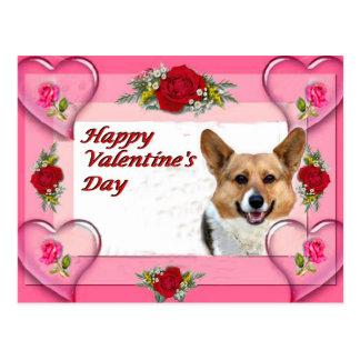 Corazones y rosas OC de la tarjeta del día de San Postal