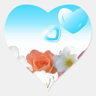 Corazones y rosas calcomania corazon personalizadas