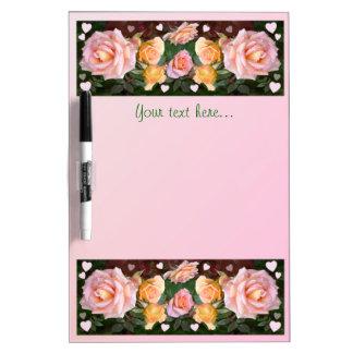 Corazones y rosas pizarras blancas de calidad