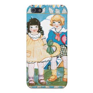 Corazones y tarjeta del día de San Valentín de las iPhone 5 Protectores