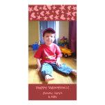 Corazones y tarjetas de la foto de la tarjeta del  tarjetas fotograficas personalizadas