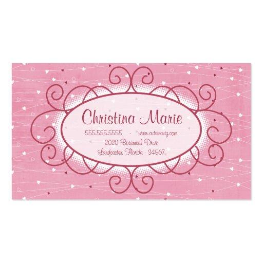 Corazones y tarjetas de visita del amor
