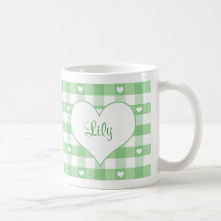 Corazones y taza verde en colores pastel de la gui