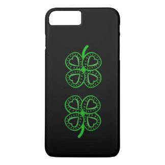 Corazones y trébol - caso del día de St Patrick de Funda iPhone 7 Plus
