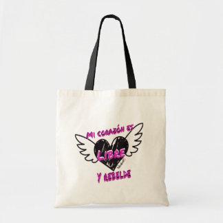 Corazónlibreyrebelde Stock market Fabric Tote Bag