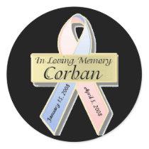 Corban memorial stickers
