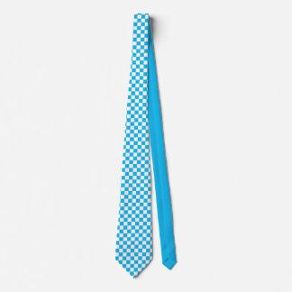Corbata azul del tablero de damas de la fiesta en