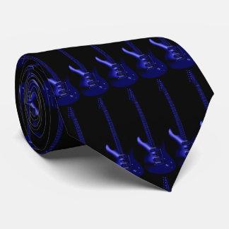 Corbata azul eléctrica de la música de los azules