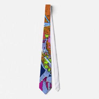 Corbata colorida del diseño del extracto de la pin