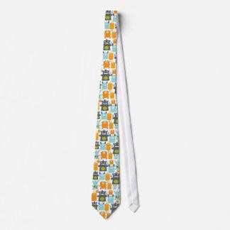 Corbata colorida linda de los monstruos