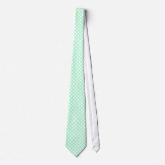 Corbata comprobada guinga de la verde menta y del