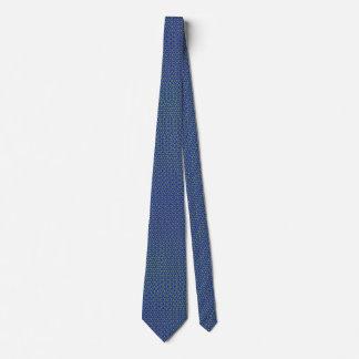 Corbata con diseño azul de moda