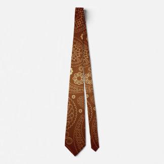 Corbata con modelo marrón