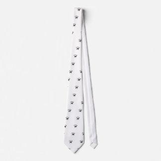 Corbata dálmata de la silueta del pawprint del per