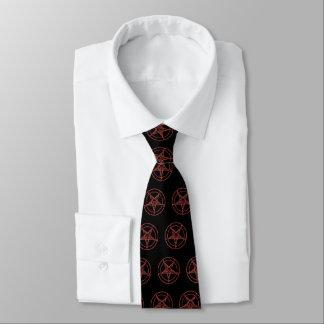 Corbata de Baphomat (Black/W Baphomat rojo)