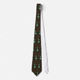Corbata de cadena verde