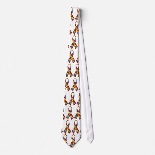 Corbata de la cinta del pedazo del rompecabezas de