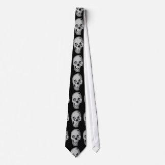 Corbata del arte pop del cráneo