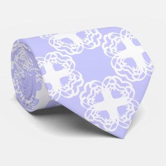 Corbata del blanco de la flor de los corazones que