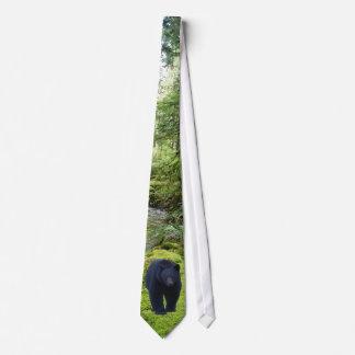 Corbata del Día de la Tierra del oso negro y de la