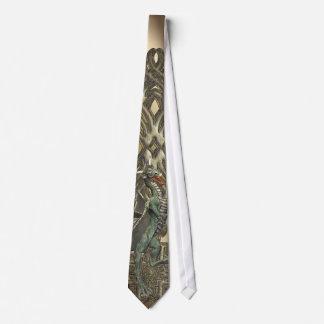 Corbata del dragón verde de la fantasía