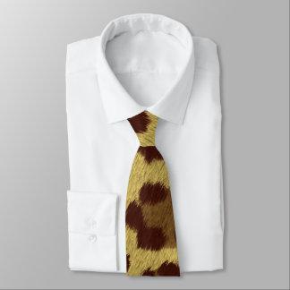 Corbata del estampado leopardo de Brown