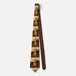 Corbata del poster del vintage de los pares del
