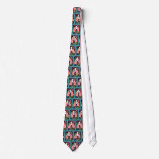Corbata del Pulmonologist--Diseño artsy de los