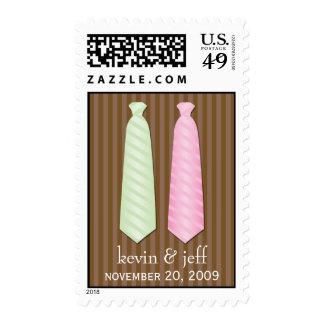 Corbata gay del boda sellos postales