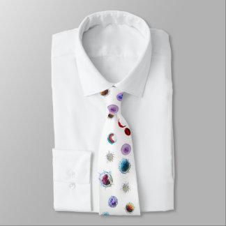 Corbata - glóbulos en la tela blanca