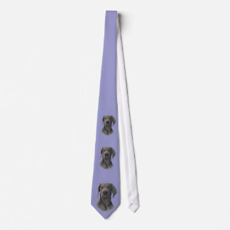 Corbata gris de Weimaraner del fantasma