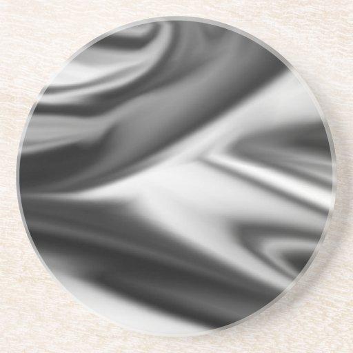 Corbata/lazo blancos y negros del chapoteo posavasos para bebidas