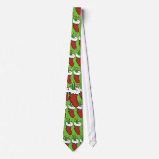 Corbata llenada de la media de Santa