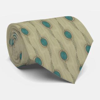 Corbata macra del modelo de puntos de la turquesa