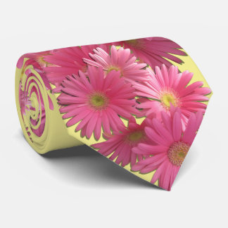 Corbata - margaritas rosadas oscuras del Gerbera