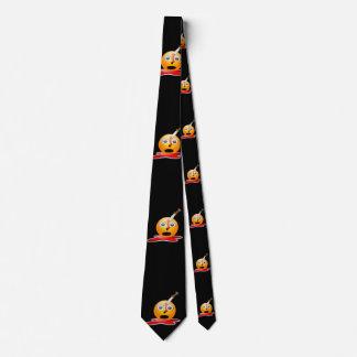 corbata para hombre de Halloween del emoji psico