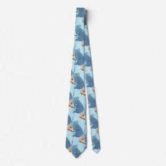 corbata para hombre de la rata de la pizza