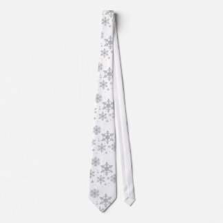 Corbata plateada del boda del invierno de los