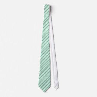 Corbata rayada del verde menta y blanca