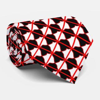 Corbata roja de la casilla negra blanca y